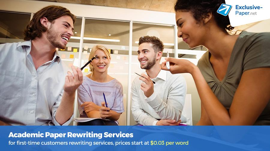 Cheap Academic Paper Rewriting Services at Exclusive-Paper.net