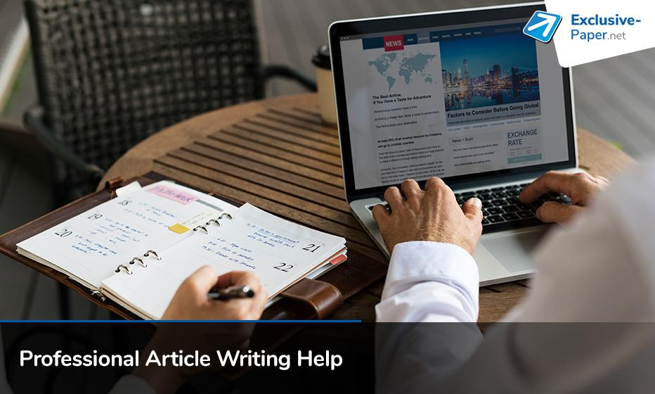 Professional Article Writing Help