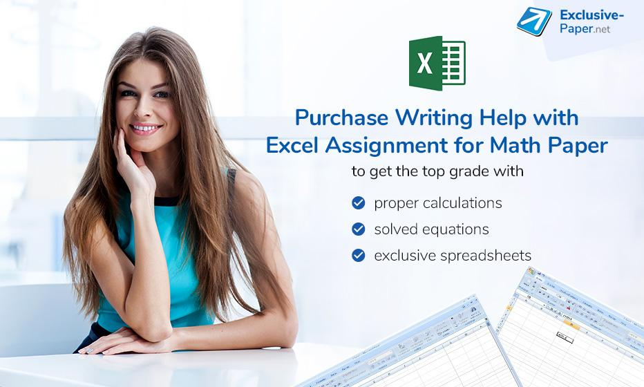 Purchase Writing Help with Excel Assignment for a Math Paper