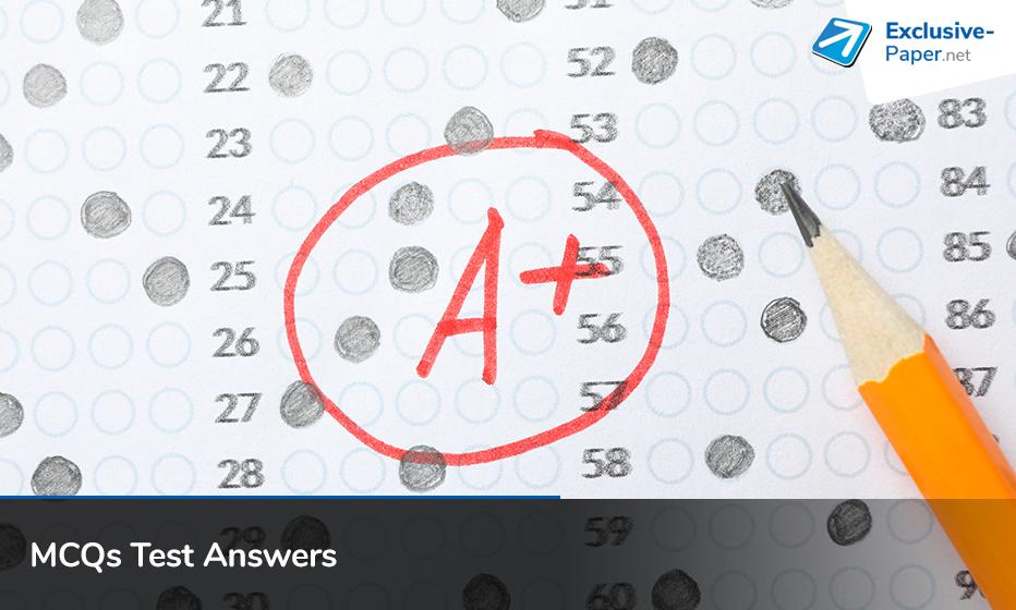 MCQs Test Answers