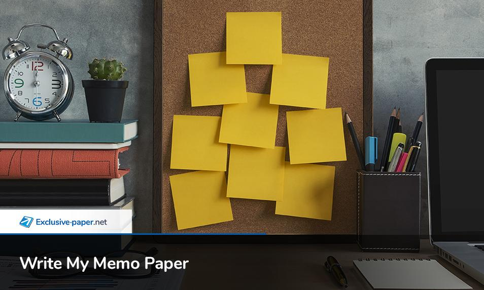 Write My Memo Paper for Money