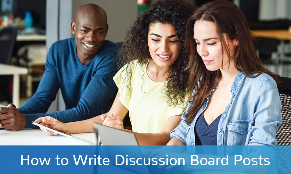 Writing Guide to Generating In-Depth Discussions Board Post