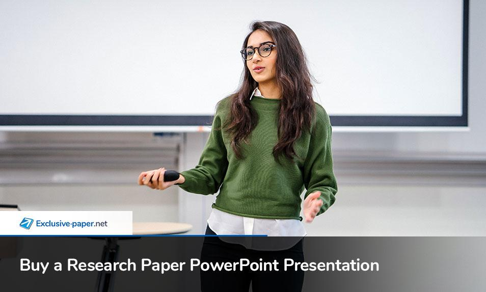Buy a Research Paper PowerPoint Presentation Slides Online