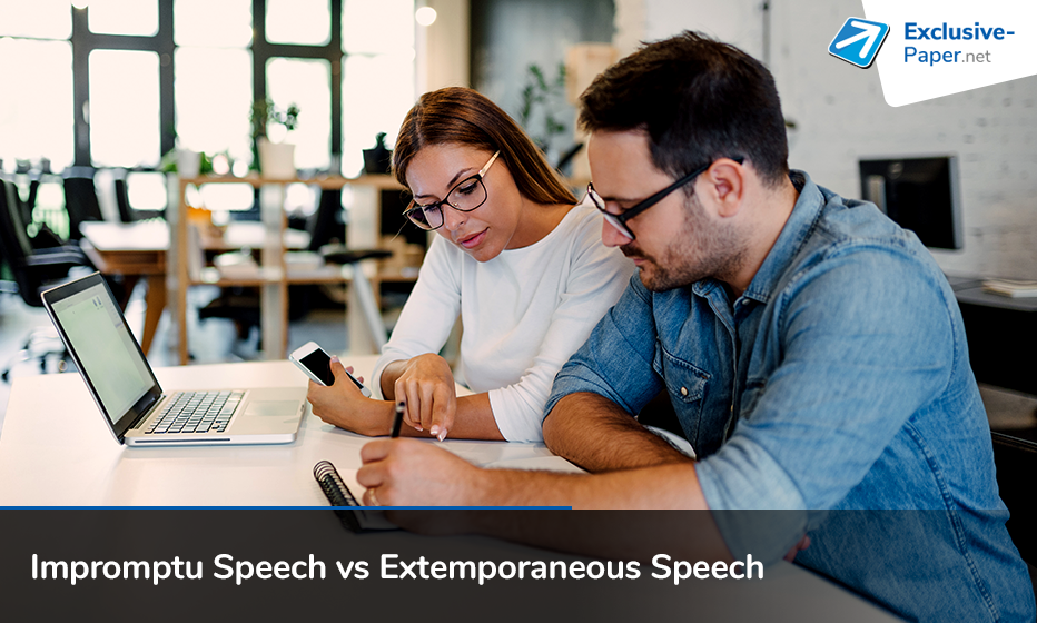 Difference between Impromptu Speech and Extemporaneous Speech
