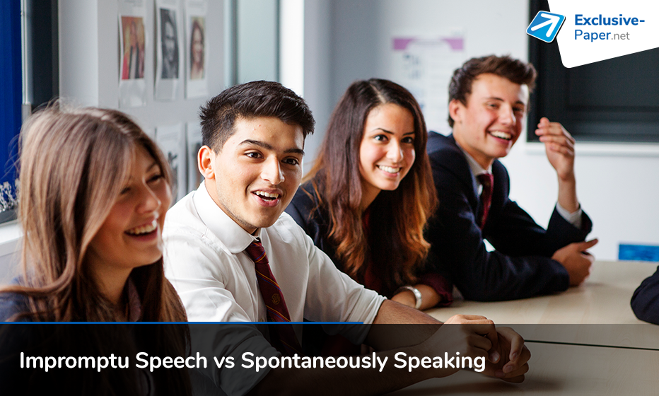 Difference between Impromptu Speech and Spontaneously Speaking