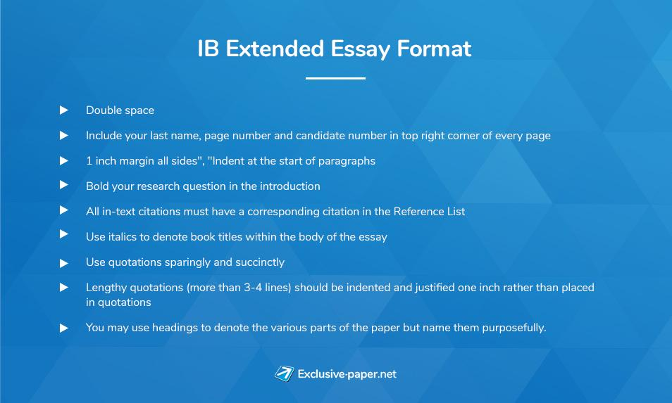 International Baccalaureate Extended Essay Format